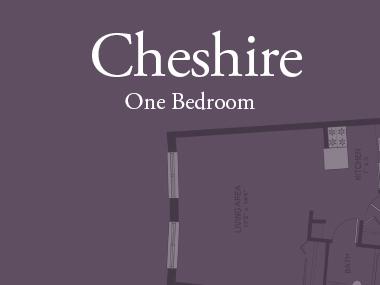 Cheshire one bedroom floor plan