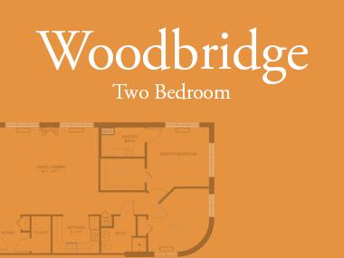 Woodbridge two bedroom floor plan